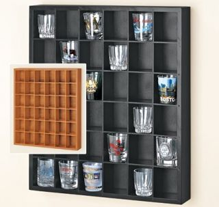Glass Organizer Display Case Wall Hanging Curio Cabinet Shelf