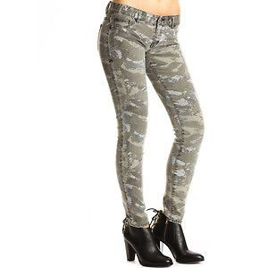 armani exchange a x j22 camo print skinny jeans size 0