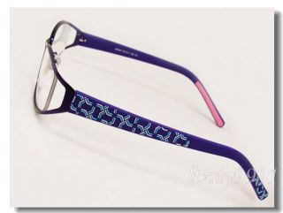 Metal Acetate Full Rim Eyeglass Frame Womens Glasses D9500E New