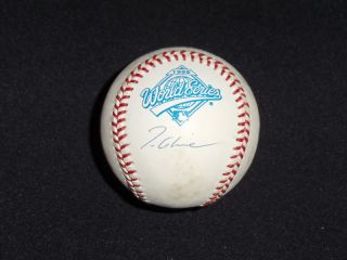 Braves Tom Glavine Signed 1995 World Series Baseball
