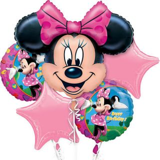 Disney Minnie Mouse Happy Birthday Balloon Bouquet