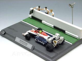 TOLEMAN TG184 & GP GB AYRTON SENNAS 1st F1 Podium 143 SMTS diorama