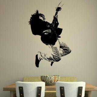 GUITARIST GUITAR MUSIC WALL GRAPHIC DECAL STICKER giant stencil vinyl