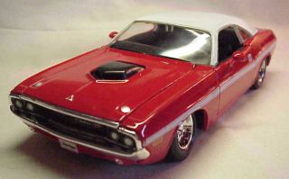 1970 Dodge Challenger RT Coupe Red 1 24 Diecast