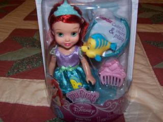 2012 My First Disney Princess Petite Ariel and Flounder Just Out
