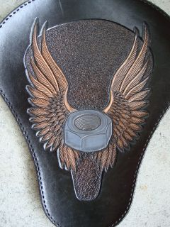 100% Hand Made Custom Wing nut Leather Chopper/Bobber/Harley Davidson