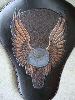 100% Hand Made Custom Wing nut Leather Chopper/Bobber/Harley Davidson