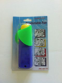 New Portable Pocket Hand Personal Fan 2XAA Battery Required
