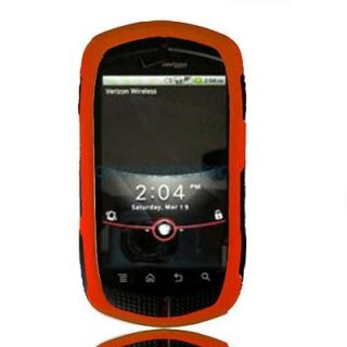 Orange Rubberized Hard Case Phone Cover LCD Screen Casio GZone