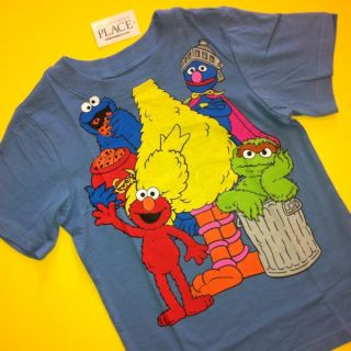 NEW Sesame Street Big Bird Elmo Baby Boys Girls Shirt 9 12 Months 4T