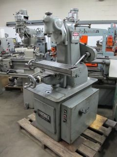 Hardinge TM UM Vertical Horizontal Milling Machine