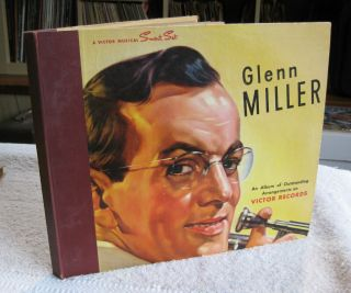 Glenn Miller Victor 4 Page 10 78rpm Record Album Storage Book Binder P