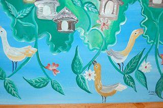 Vintage Art Haiti Gerard Paul Signed Haitian Painting