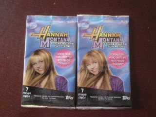Packs Hannah Montana 7 Sticker Card Trading Cards Disney 2008 Miley