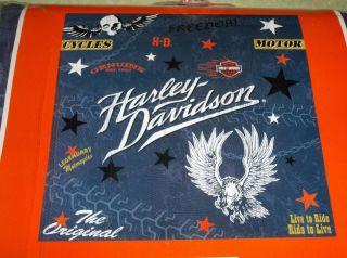 Harley Davidson Bathroom Shower Curtain Skulls Motocycles Eagle Heavy