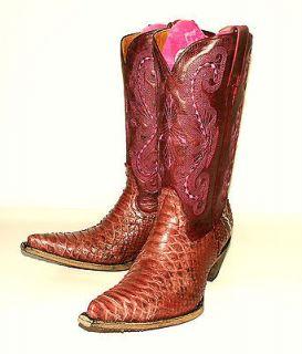 Je Ver 119 G Rosa Pink Python Snake Skin Western Fashion Boots Rose