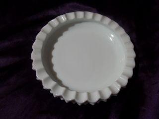 Fenton Hobnail White Milk Glass Coin Candy Dish or Ashtray