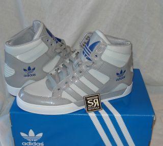 New Adidas Originals Mens Hard Court Hi Gray Blue Shoes High Top Big