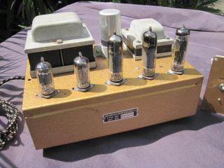 10 Valve Tube Amplifiers Grampian Gold Finish 1960s Leak