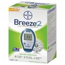 Breeze 2 Blood Glucose Monitoring System Meter for Diabetes No Coding