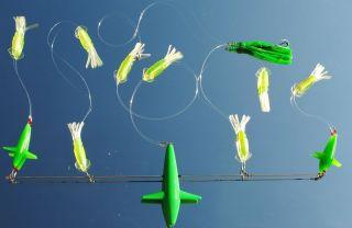Spreader Bar with Splash Green Bird 6 Green 3D Squid Green Smacker