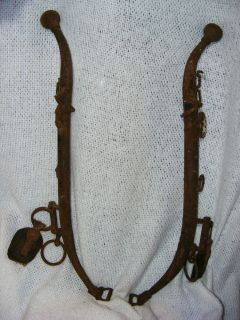 Antique Horse Harness Collar Hanes Metal Farm Hanes Rustic Country