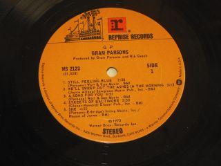 Gram Parsons GP Warner Brothers Reprise MS 2123 Gatefold Near Mint