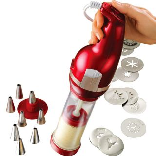 Cookie Dough Press Cake Cupcake Decorator Pasta Hard Boiled Egg Gun