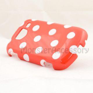 Red Polka Dot Hard Case Cover for Samsung Brightside U380 Phone
