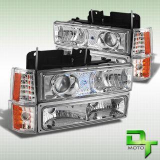94 99 GMC C K Pickup Sierra Yukon Suburban Projector Headlights Corner