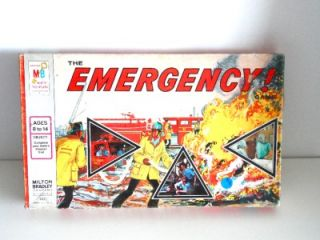 Vintage 1974 4406 Emergency The Board Game Milton Bradley Complete TV
