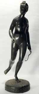 Jean Antoine Houdon Bronze Sculpture Diana Hunt Goddess Louvre Paris
