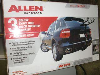 Allen Deluxe 532RR 3 Bike Hitch Mount Rack 1 25 or 2 Inch Receiver