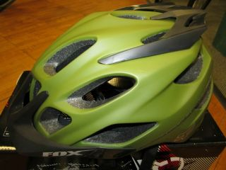 New Fox Racing Flux Helmet s M Army Green Road Mountain Bike