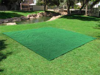 Outdoor Turf Rug 12x12 Green Deck Patio Carpet Mat