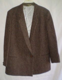 Womens Vintage Harris Tweed Lands End Charter Collection Blazer Size