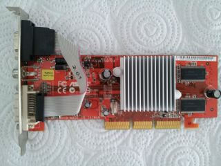 Graphics Video Card for PC Socket AGP 9250 ATI Radeon 128 MB Asus