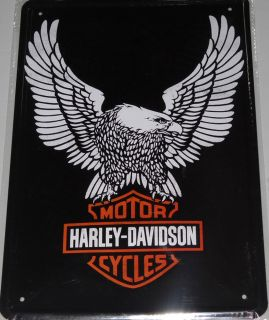 Novelty Harley Davidson Motorcycle Bike Collectable Display Tin Plate