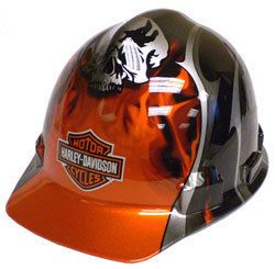 Wise Harley Davidson Hard Hat Skull Flame OSHA New