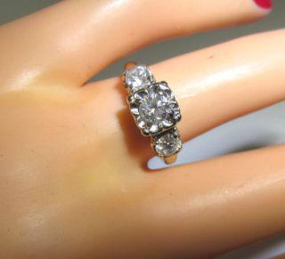 Unique Spectacular Antique 1 75ct Large Diamond Engagement Ring