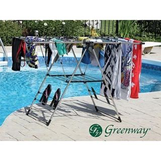 Greenway x Large Fold Away Laundry Drying Rack Clothes