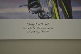 Greg Lemond 1989 World Championships France Poster