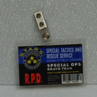 Resident Evil ID Badge Stars Special Ops Bravo Team