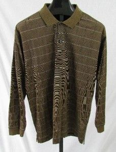 Greg Norman Mens Long Sleeve Golf Shirt XL Great