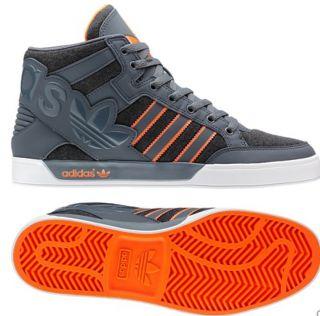 Mens Hard Court Hi Big Logo Gray Orange White Shoes Top