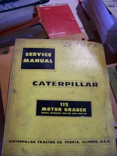 Cat 112 Motor Grader Service Manual in Great Shape