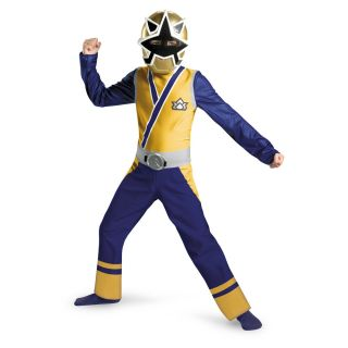 Classic Gold Ranger Child Costume Size s Small 4 6 New Power Rangers