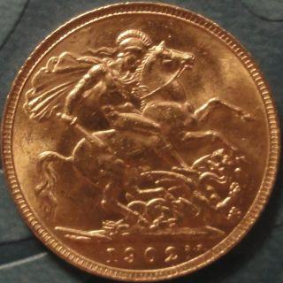 1902 Edward VII Coronation Gold Sovereign Coin