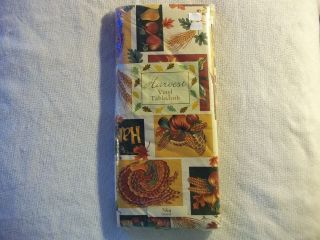 HARVEST TABLECLOTH 70 INCHES ROUND THANKSGIVING FALL AUTUMN NIP
