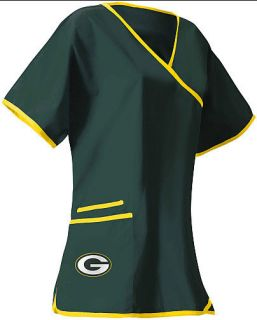 Green Bay Packers Womens Scrub Top S